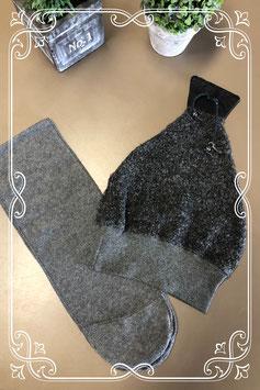 Grijze sjaal en muts tegen de kou - voor 6-8 jaar