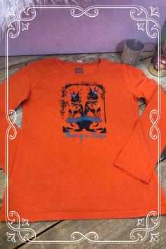 Oranje trui met print van het Merk - Girls Will Be Girls - Maat 158-164