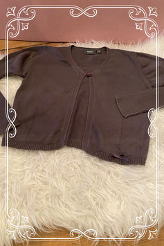 Donker bruin vest van mexx - maat 134-140