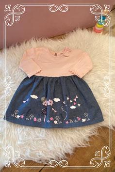 roze/jeans jurkje van Early days - maat 74