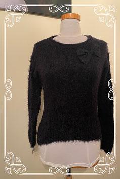 Nieuw! Zwarte fluffy trui met strik van C&A maat S