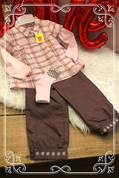 Nieuw: Vierdelig roze/bruin setje van Petale - Maat 86
