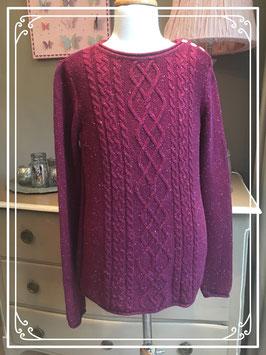 Paarse gebreide trui van L.O.G.G. - maat 36