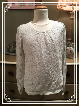 Wit kanten shirt van L.O.G.G. - maat 146-152