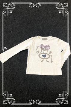 Wit shirt met grappig poppetje van Filou & Co maat 122