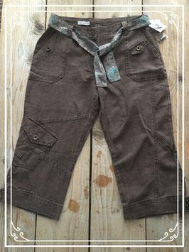 Bruine driekwart broek van Yessica - Maat 40