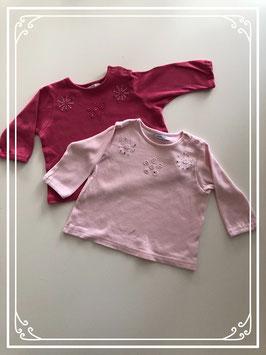 2 lange mouwen shirts van de HEMA - Maat 68
