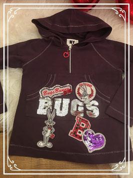 Paarse trui met Bugs Bunny voorop van NY & LON (by Monalisa) - Maat 86