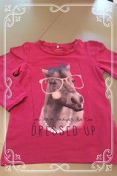 Leuk roze shirt met print van een paart van Name-it - maatje 98