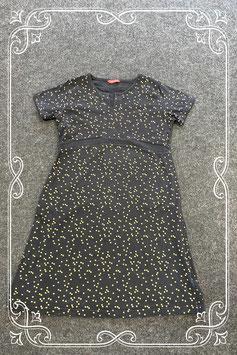 Feestelijk zwart jurkje met gouden stippen van Hema maat 146/152