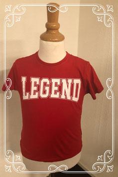 Rood shirt ''Legend'' van Primark maat 128