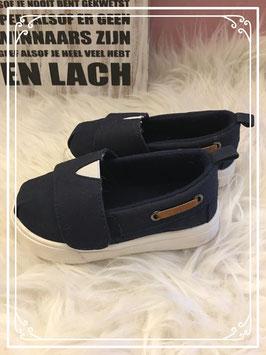 Donkerblauwe bootschoentjes - Maat 23