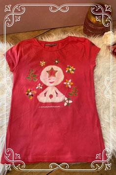 Roze/rood jurkje van het merk JBC - Maat 164