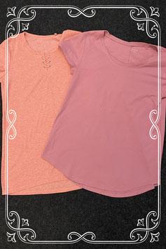 Nieuw! 2 leuke roze shirts van C&A maat S