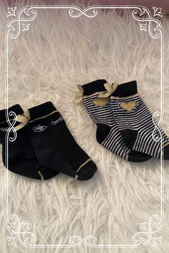 Set van twee paar zwarte babysokjes
