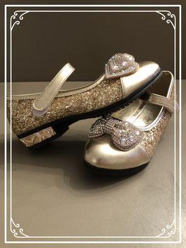 Gouden schoenen met steentjes - maat 33