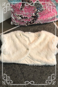 Wit mouwloos vestje - maat 80