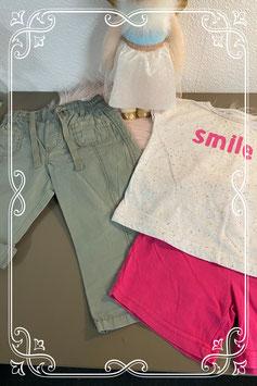 Leuk shirt te combineren met leuke groene broek of roze broek maat 86