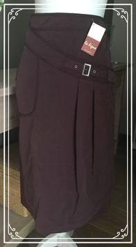 Aubergine kleurige rok van La Ligna - Maat 40