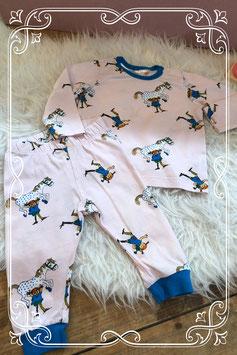 Schattig pyjama met pippi langkous erop van de H&M - maat 68