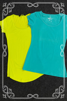 Geel en groen shirt van FB Sister en Jane Norman in maat XS