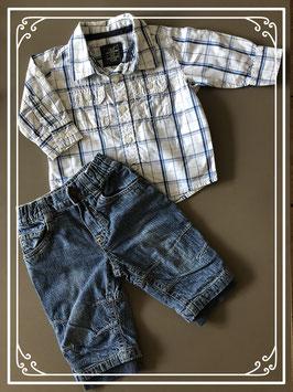 Nette set kleding blauw - Maat 62