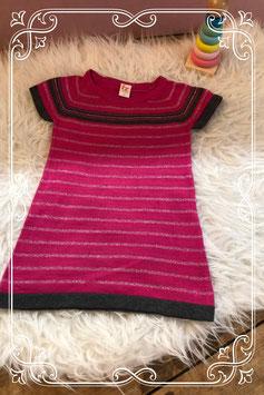 Leuk roze/grijs jurkje van de hema - maat 80
