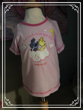 Roze Woezel en Pip T-shirt - Maat 74/80