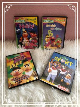 4 leuke dvd's van Sesamstraat