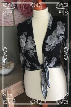 Zwart vestje met knoop en print van Promiss - Maat M