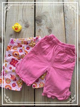 Geripte roze broekjes - Maat 62