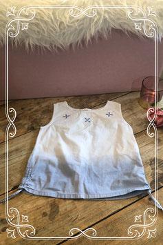 Wit-paars topje van Girls - maat 128