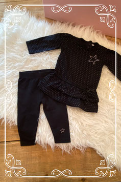 zwart jurkje met legging - maat 62