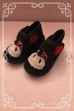 Warme zwarte pantoffels voor jongens - maat 19