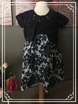 Chique jurkje met gehaakte bolero van babygap - maat 86 / 2 jaar