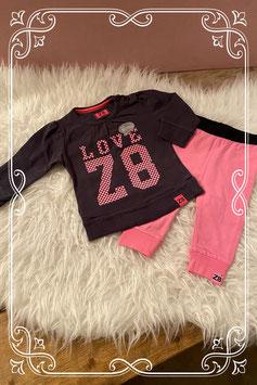 Roze/zwarte Z8 kledingset - Maat 68