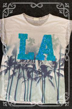 Zomers shirt met pailletten van Zara Girls maat 140
