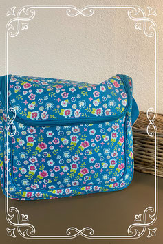 Nieuw! Leuke blauwe tas voor aan de buggy