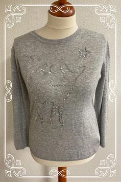 Nieuw! Grijze trui met pailletten van C&A maat M