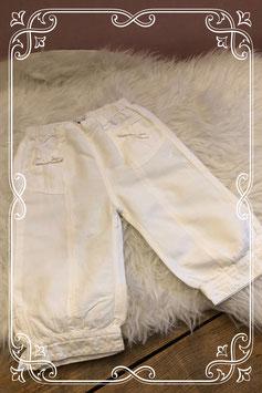 Witte lange broek van P'tit Filou - Maat 92