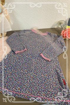 Nachtjapon in lief panterprint van Claesens Maat 104 110