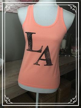 nieuw! neon top met tekst LA merk outfitters nation - maat 152