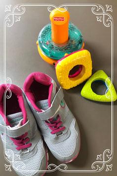 Roze grijze sneakers maat 36/37