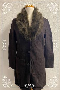 Nieuw! Bruine wollen jas van Cleo maat XS/S