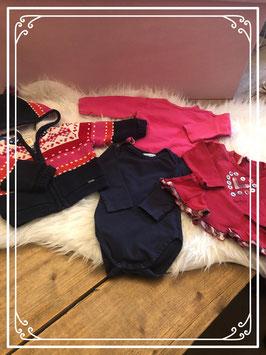 Kleurrijke kleding set van vier stuks van verschillende merken - maat 62 - 68