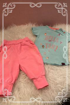 Roze broekje van born to be famous met een t-shirt van Spruit - Maat 74
