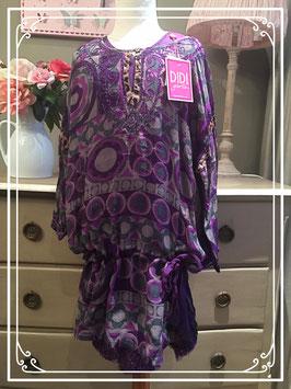 Nieuw: paarse dubbele jurk van Didi - maat 152