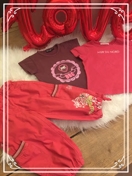 Vrolijke kleuren 3 delige kleding set van verschillende merken - Maat 92