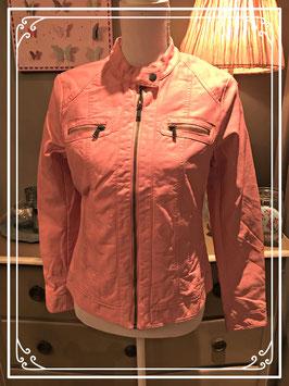 Nieuw: lichtroze leather-look jasje van true Spirit - maat S