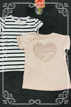 2 mooie shirts van C&A en Young Dimension maat 146/152